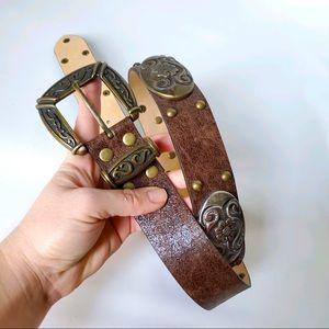 Michael Kors Leather Designer Belt NWOT